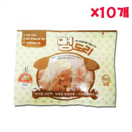 멍도리 치킨껌 하프 300g X 10개 애견간식 대용량간식
