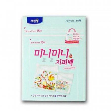 지퍼백 비닐백 위생 봉투 음식 보관 비닐팩 2종
