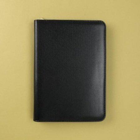스탠다드 지퍼형 계산기 다이어리(29x21cm)/갈색/검정