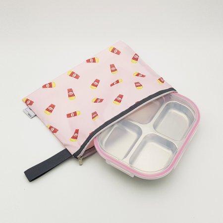 팝핑팝콘 핑크 4구 4절 다이어트 찬합 도시락 식판