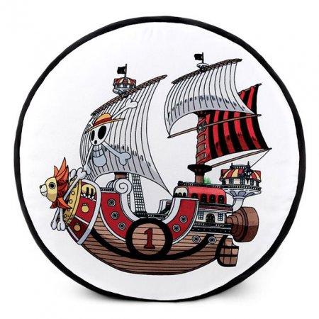 원피스 써니호 원형 쿠션 해적선 양면 프린트 배
