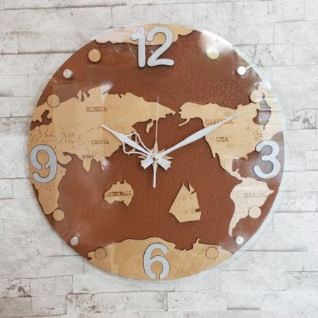 세계지도시계 (브라운)/벽시계 인테리어시계/고급시계