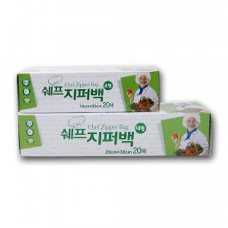 지퍼백 비닐백 위생 봉투 음식 보관 비닐팩 18x20