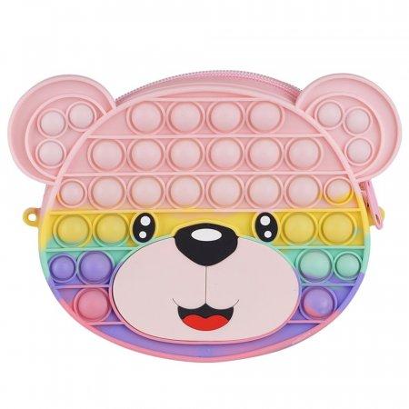 해피톡톡 푸쉬팝 버블 곰돌이 가방