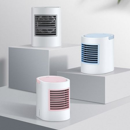 세련된 디자인 LED 미니냉풍기 탁상 수냉식 선풍기