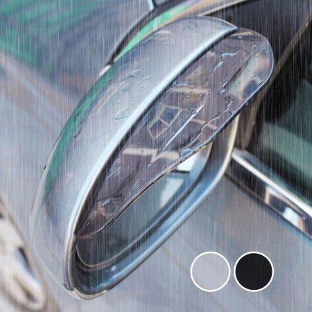 블랙- 자동차 사이드 미러 커버 빗물 막이 차량