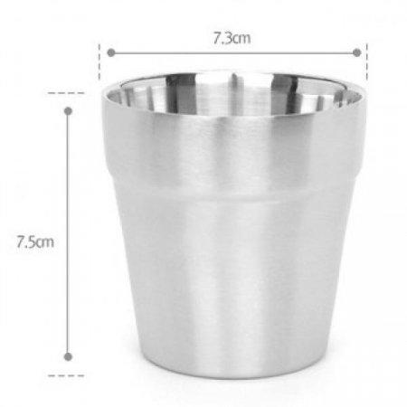퀸센스 컵 2중 물컵 이중스텐물컵 뜨거운 물을 담아도 쉽게 뜨거워지지 않음 스테인레스