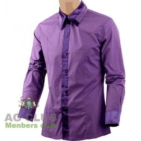 압구정클럽 실크포인트 와이 셔츠