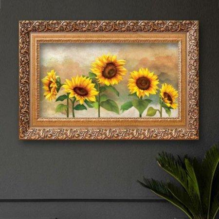 해바라기그림액자 풍수그림 꽃 돈들어오는 55AgoldP