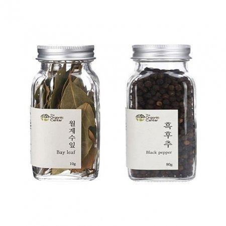 (오가닉 향신료 모음)월계수잎 10g x 통 흑후추 80g