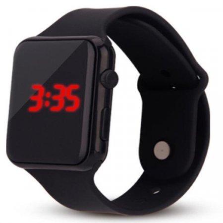 1+1 남녀노소 디지털 Simple Black 손목시계