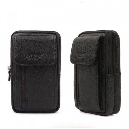 블랙- 남성 미니 소가죽백 크로스 핸드폰 가죽 가방