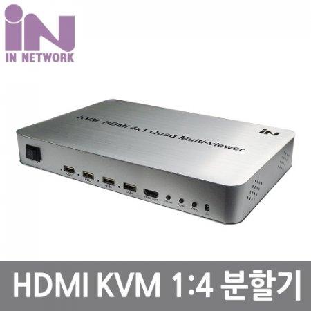 HDMI KVM 멀티뷰 화면분할 4X1 1080P 60Hz