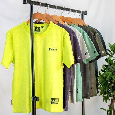 피그먼트 워싱 나염 형광 스트릿 빈티지 반팔 티셔츠