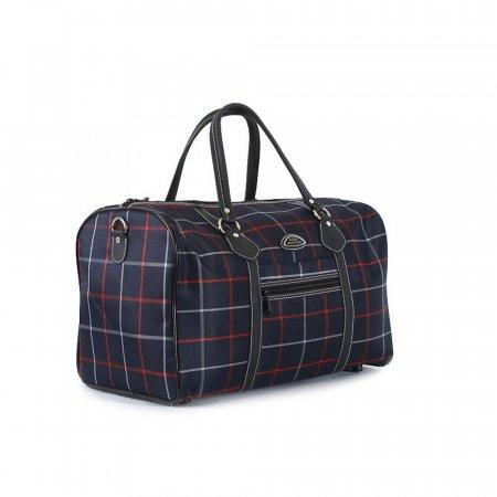 복고감성 체크무늬 여행용 가방 보스턴백
