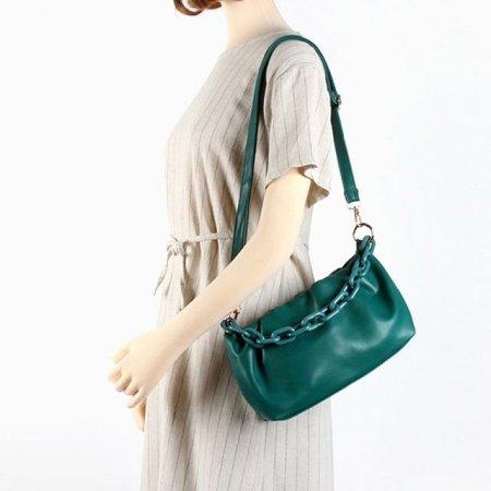 만두 스타일 셔링 라운드 여성 핸드백