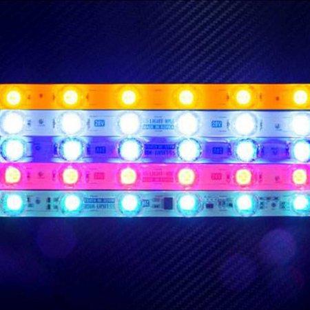 24V 차량 LED바 6구 방수 실외 장식 볼록 DIY 소품