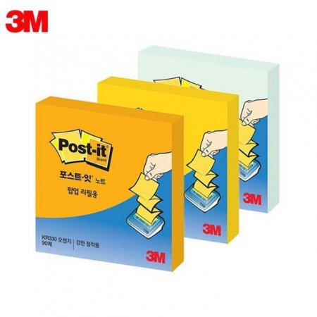 3M 포스트잇 슈퍼스티키 노트 팝업 리필용 KR-330 (76