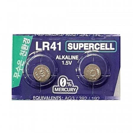 슈퍼셀 무수은전지 LR41(10알) 1.5V건전지