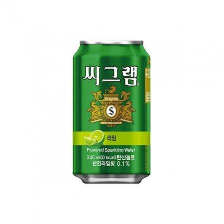 씨그램 라임 345ml 24개 탄산음료 무첨가 저칼로리