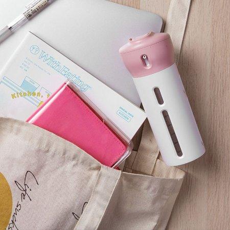 여행용 휴대용 공병 화장품 펌프 샴푸 용기 4in1 pink