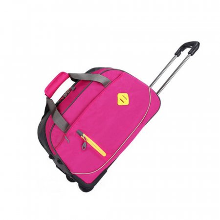 캐리어 핸들 바퀴 달린 여행용 보스턴 가방 핑크