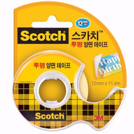 스카치 투명 양면테이프(137D/12mm*11.4M/3M)