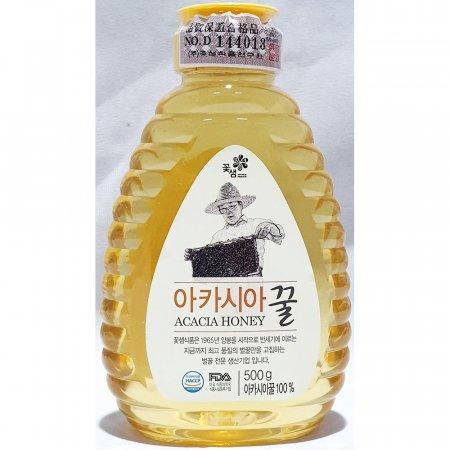 아카시아 꿀 꽃샘 500g x12개 가정 업소용 벌꿀 식당