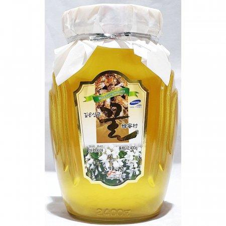 아카시아 꿀 병 우성 2.4kg 가정 업소용 벌꿀 식당