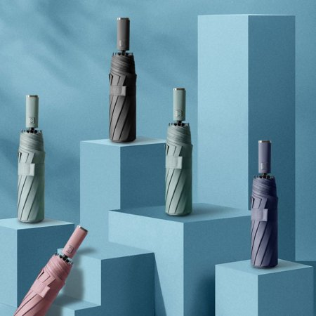 UV차단 원컬러 튼튼한 고급 3단 자동 우산 네이비