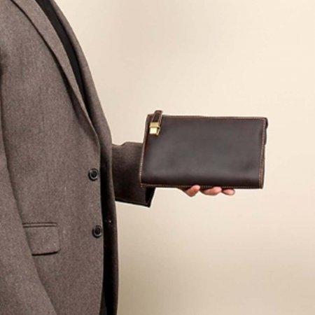 남성 가죽 고급 맨즈백 소형 일수 가방 클러치백 지갑