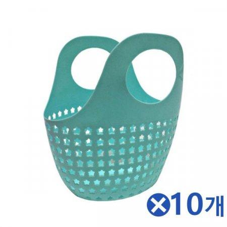 구멍송송 별 시장바구니 색상랜덤x10개 마트가방