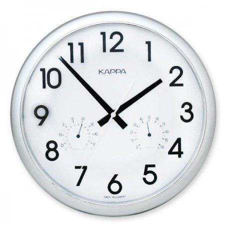 실버 온습도 벽시계 1P 사무실 거실 아이방 시계