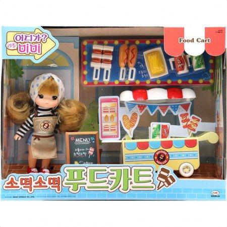 리틀미미 소떡소떡 푸드카트 인형 놀이 장난감