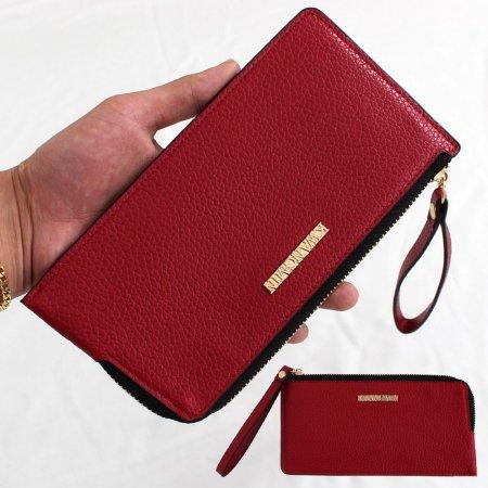 여성 레드 카드장지갑 명함 휴대폰수납 지갑