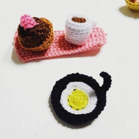 주방놀이키링 ( 후라이팬과 계란)