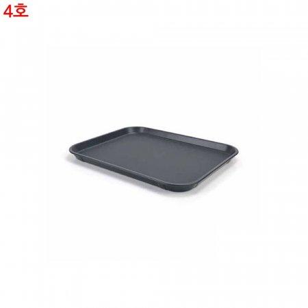 논슬립 직사각 쟁반 블랙 4호 46 x 36cm