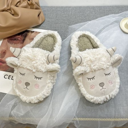 잠자는 양털슬리퍼 특이한 신발 학교 회사 겨울실내화