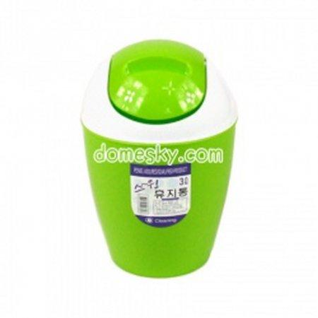 스윙 휴지통3L(3색상)