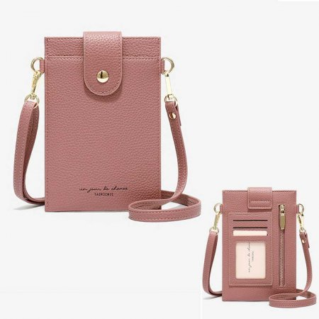 크로스 카드 케이스 숄더 지갑 여행 미니 가방