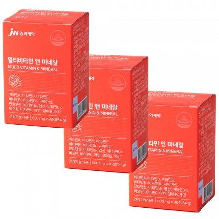 중외제약 종합 멀티비타민 앤 미네랄 영양제 3박스