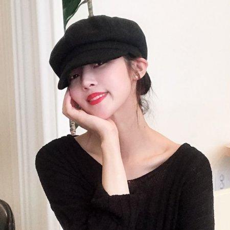 여자 빵모자 무지팔각모 뉴스보이캡 헌팅캡
