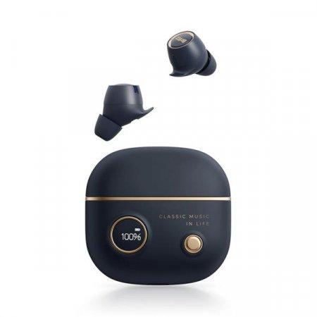 네이비 블루투스5.0 무선 노이즈캔슬 이어폰 방수