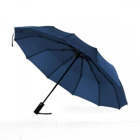 3단 접이식 튼튼한우산(네이비) 자동 방풍우산(12살대)