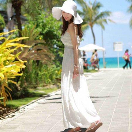 헬렌 비치 모자/챙넓은 밀집 라탄 여성 여름 라피아햇