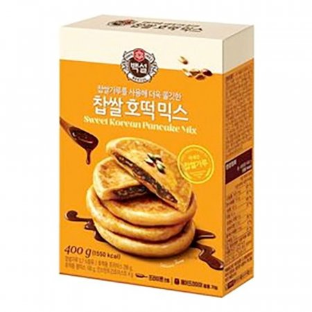 찹쌀 호떡 믹스 백설 400g x10개 가루 파우더 업소
