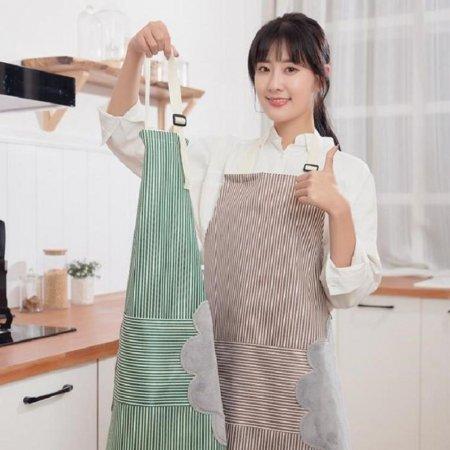 손 닦기 편한 예쁜 주방 방수 앞치마