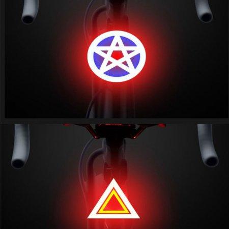 야간 라이딩 추방 충동 예방용 자전거 후미등 X 2개입