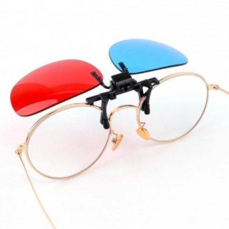 3D 입체안경 오버글라스형 적청안경 에너글리프