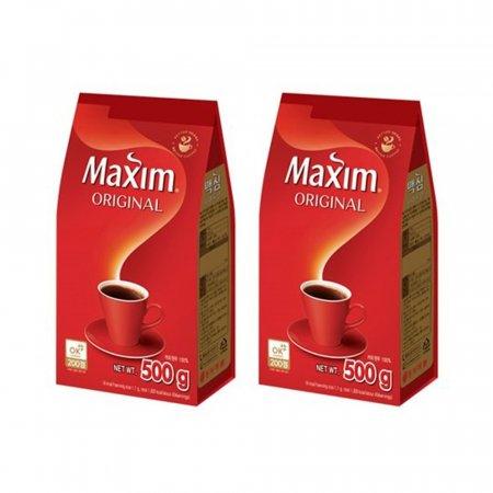 (2개묶음) 동서 맥심 오리지날 커피 500g 알커피